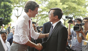 Prime Minister of Canada, Justin Trudeau visited Ton Duc Thang University