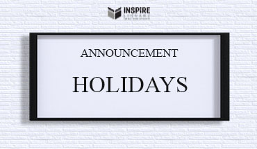 Announcement for Holidays